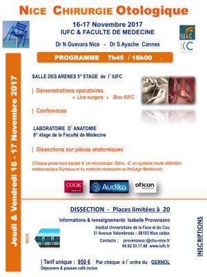 Cours otologie endoscopie et microscopie nice 16 17 novembre 2017 2
